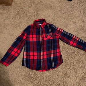 Girls Justice Plaid Button Shirt
